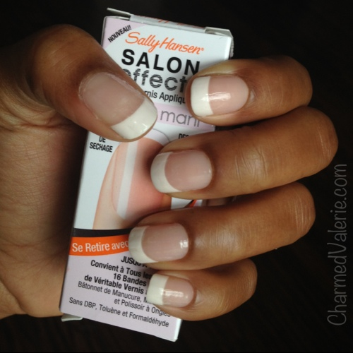Sally Hansen French Mani Nail Polish Strips Review - Charmed Valerie