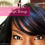 How to style side-swept bangs