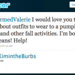 Kim wants to know what to wear to a pumpkin patch and other fall activities.