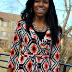 Aztec Maxi Wrap Dress Outfit