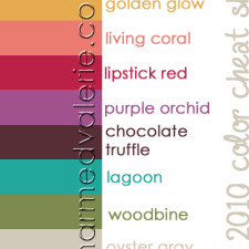 Fall 2010 printable Color Cheatsheet & 5 reasons why you NEED it #31DBBB