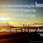 osho beauty quote