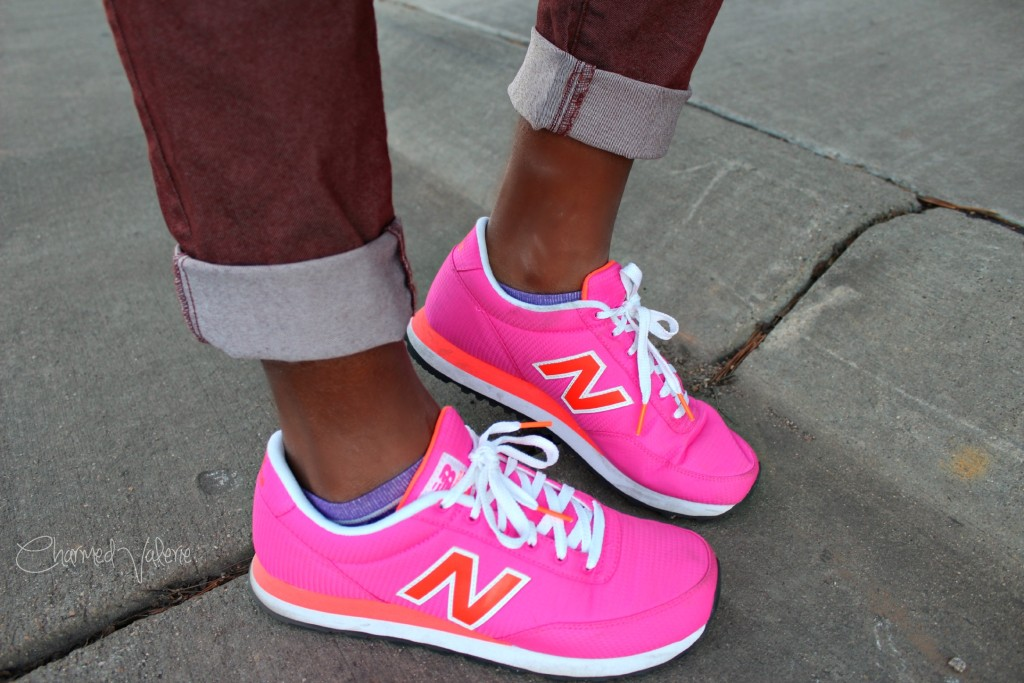 Pink New Balance W501 outfit idea