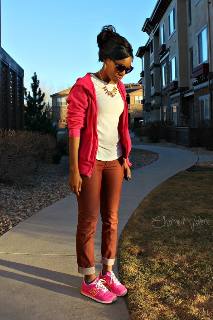 Shades of Pink New Balance Shoes Outfit Idea