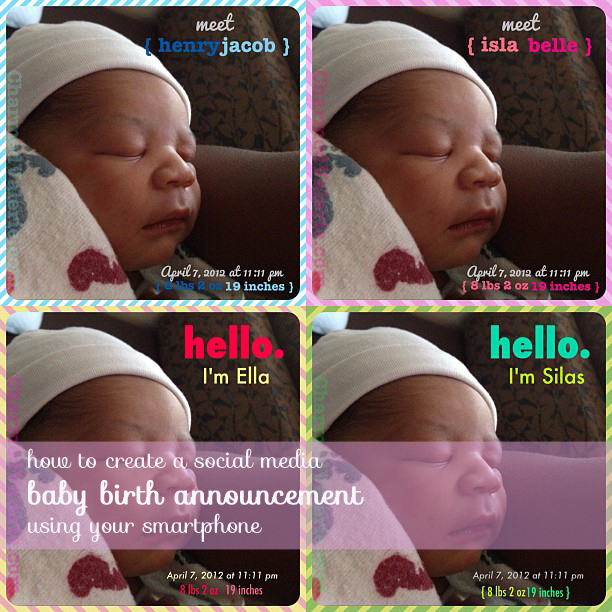 birth announcement creator