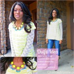 Outfit Idea: layers + statement necklace